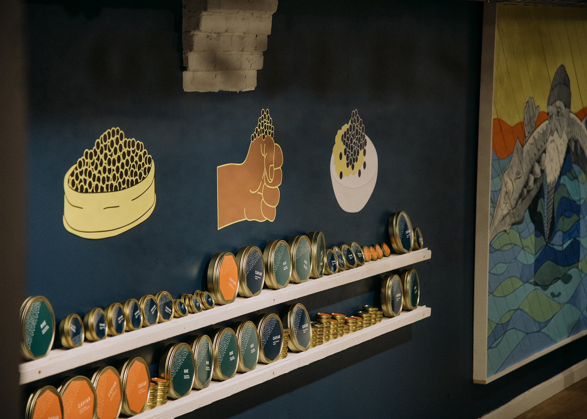 Island Creek Oyster caviar pop-up