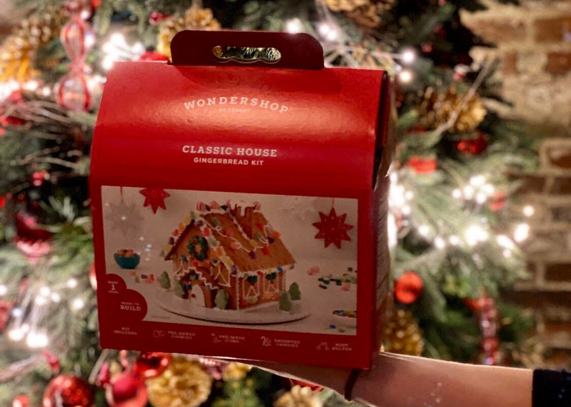 Gingerbread house kit at Lincoln