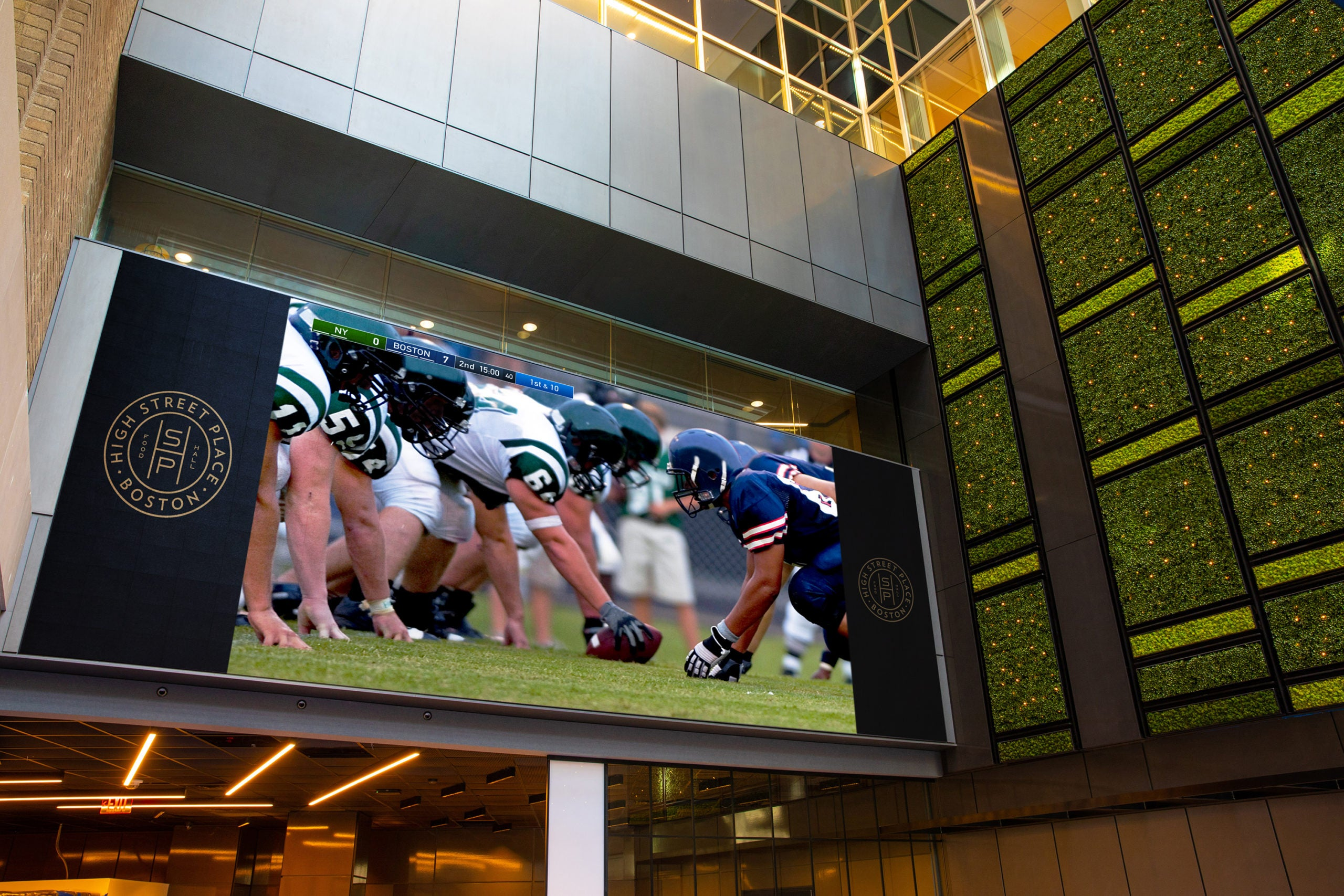 Video entertainment wall at High Street Place