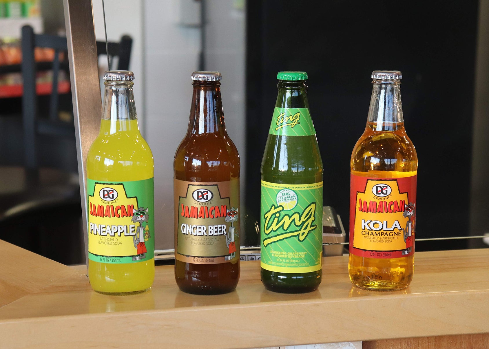 Jamaican sodas at Jamaica Mi Hungry