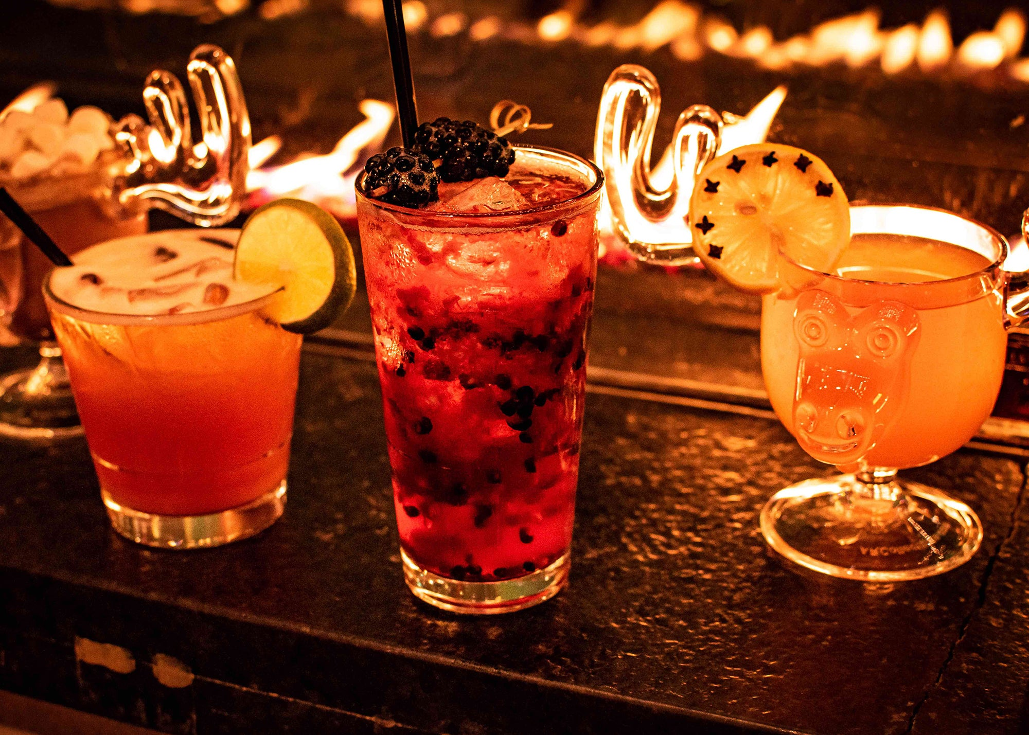 Holiday drinks at The Lodge at Publico