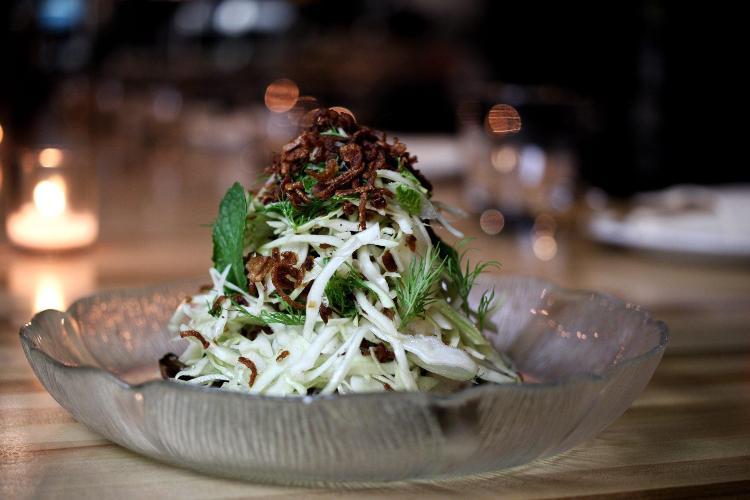 Goi Bap Cai at Nightshade Noodle Bar