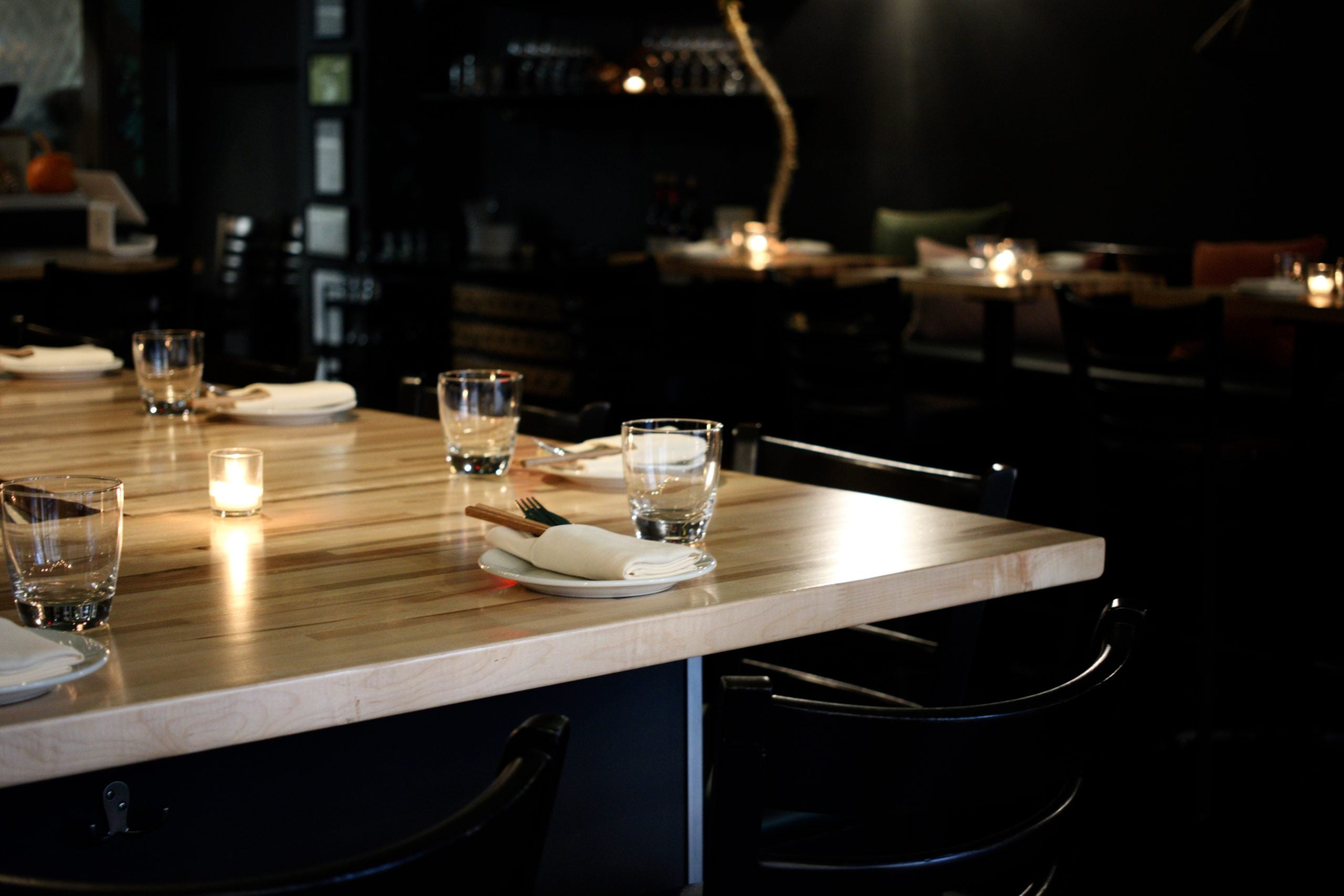 Table setting at Nightshade Noodle Bar