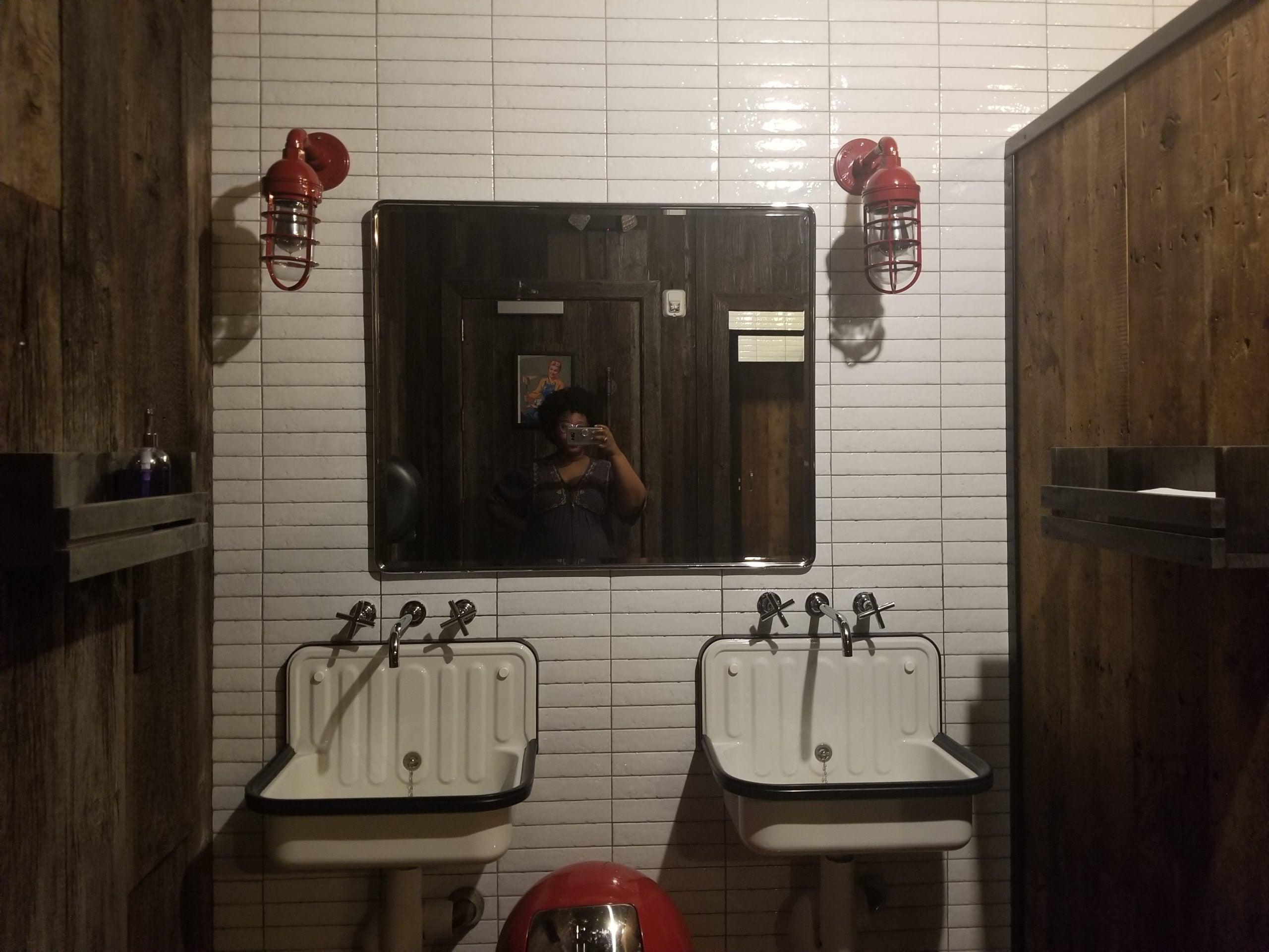 Backyard Betty's bathroom