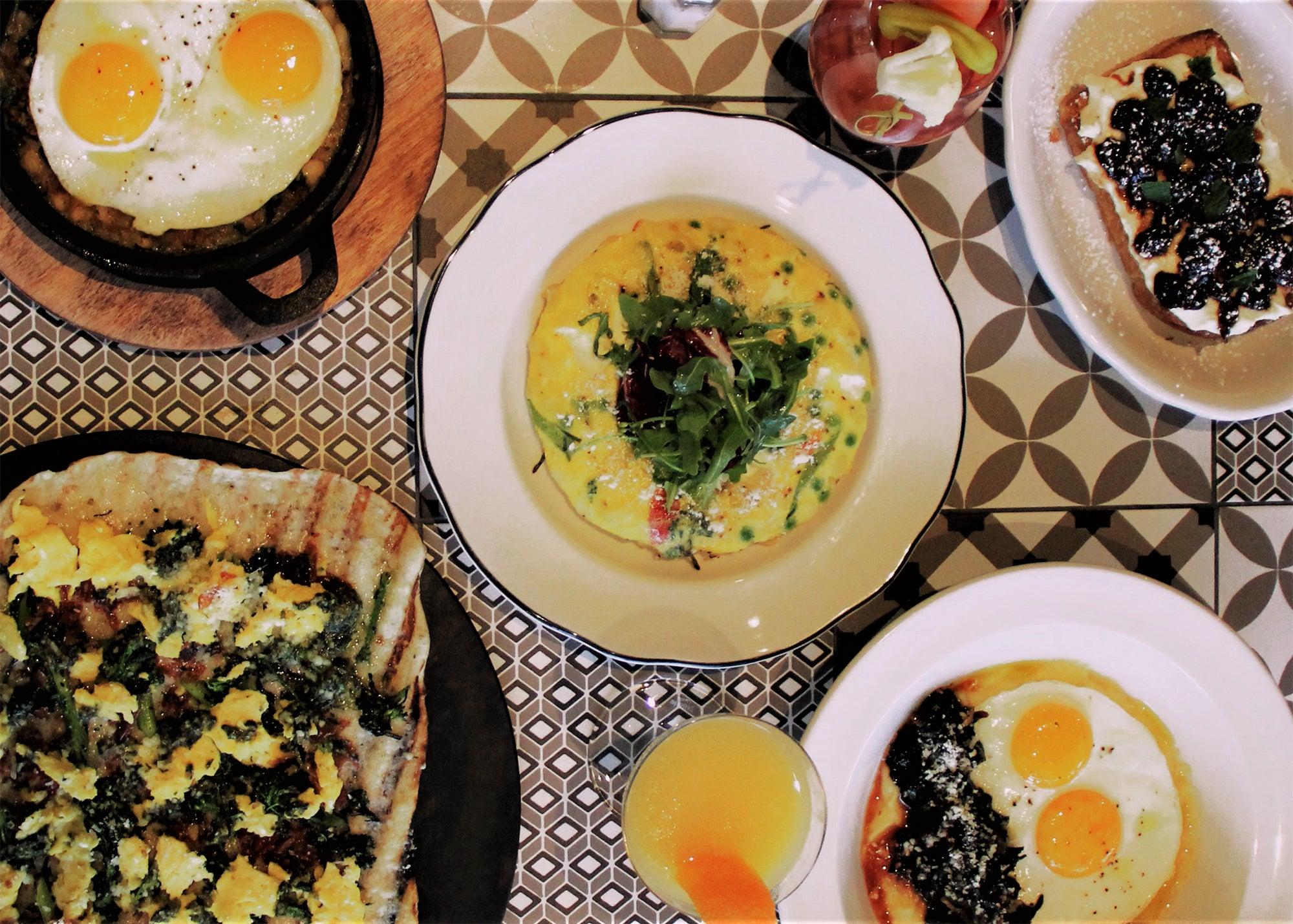 Breakfast table at Bar 'Cino