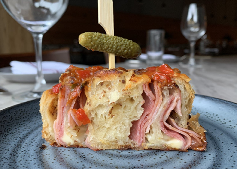 The Italian grinder croissant at Café Beatrice