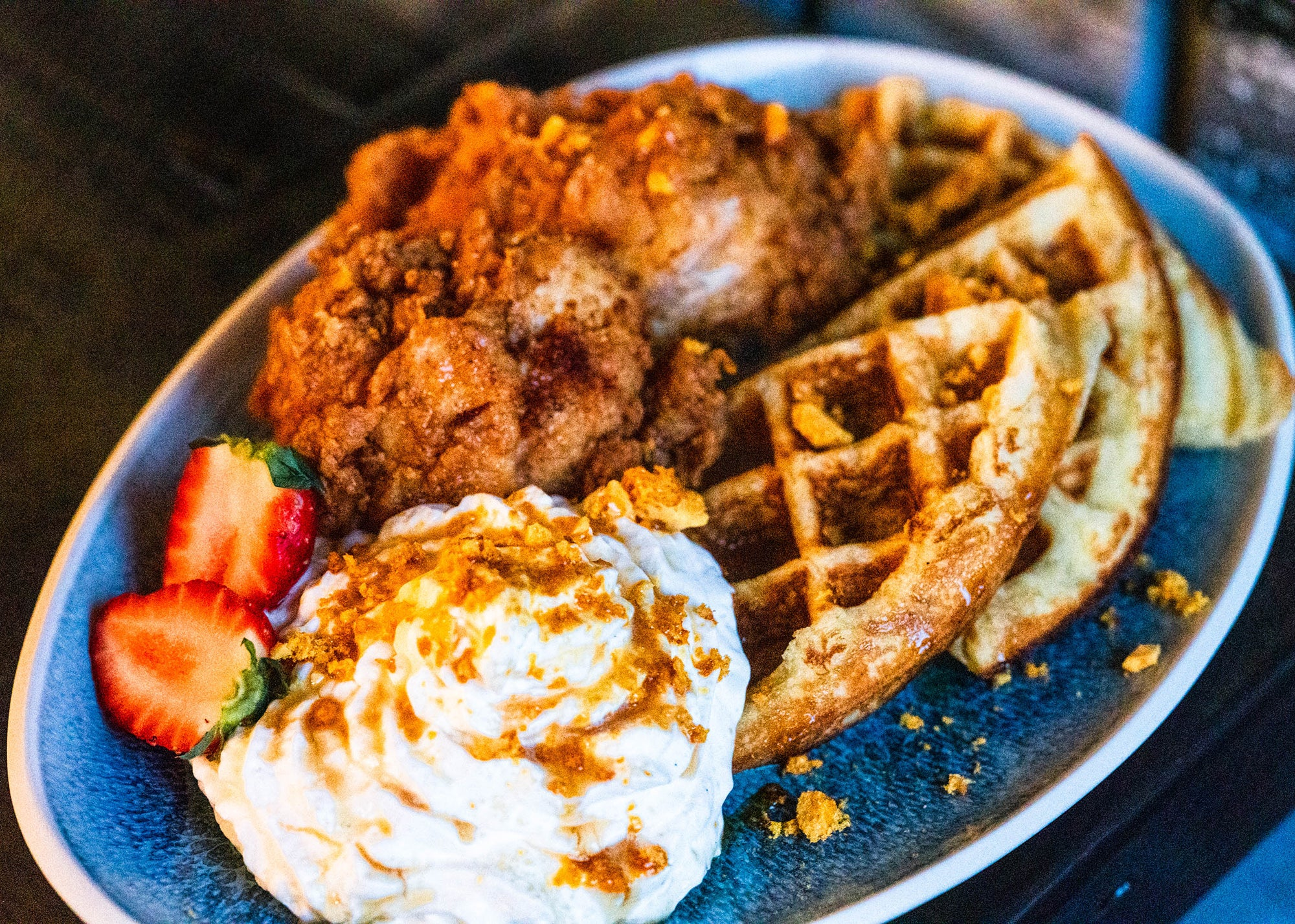 Chicken and waffles at The Pollo Club