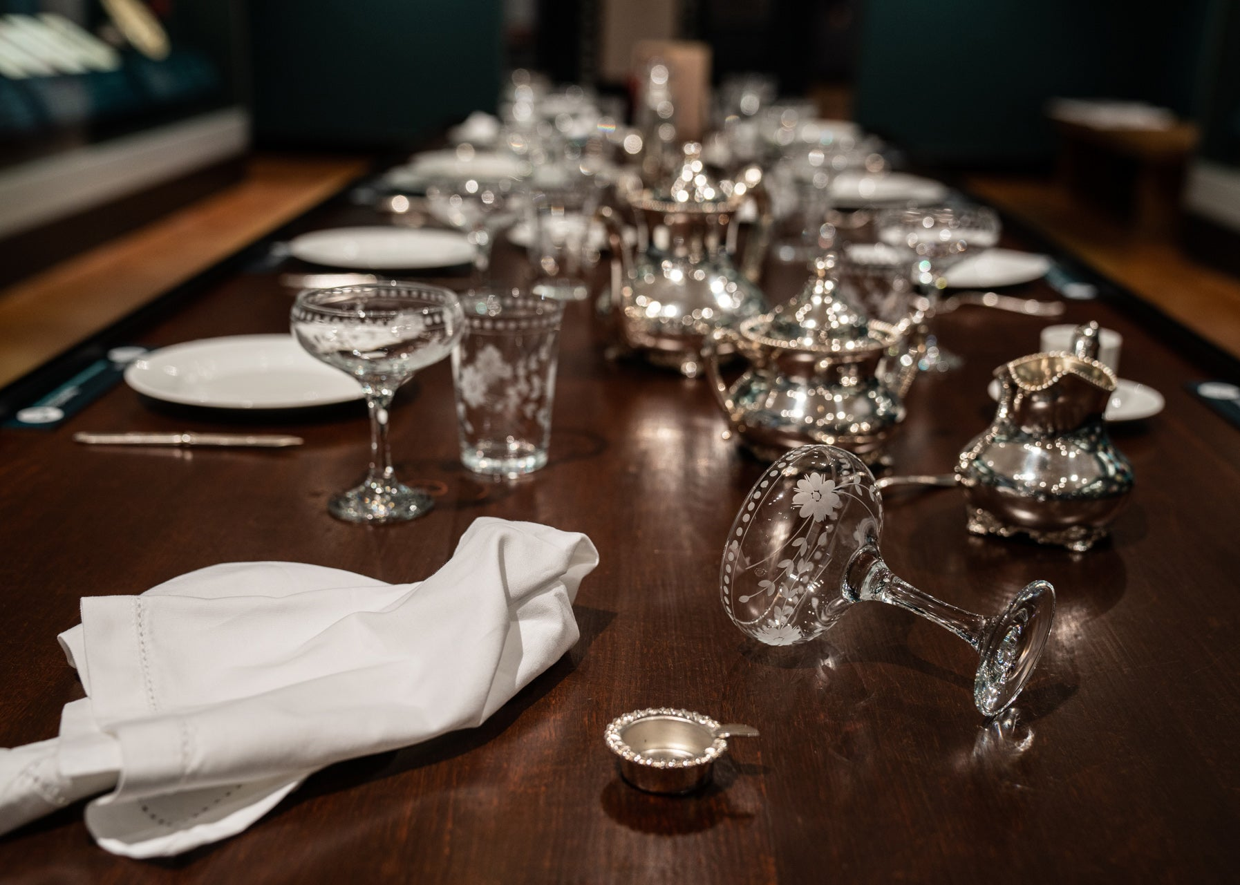 """Dining table at """" Resetting the Table: Food and Our Changing Tastes"""""""