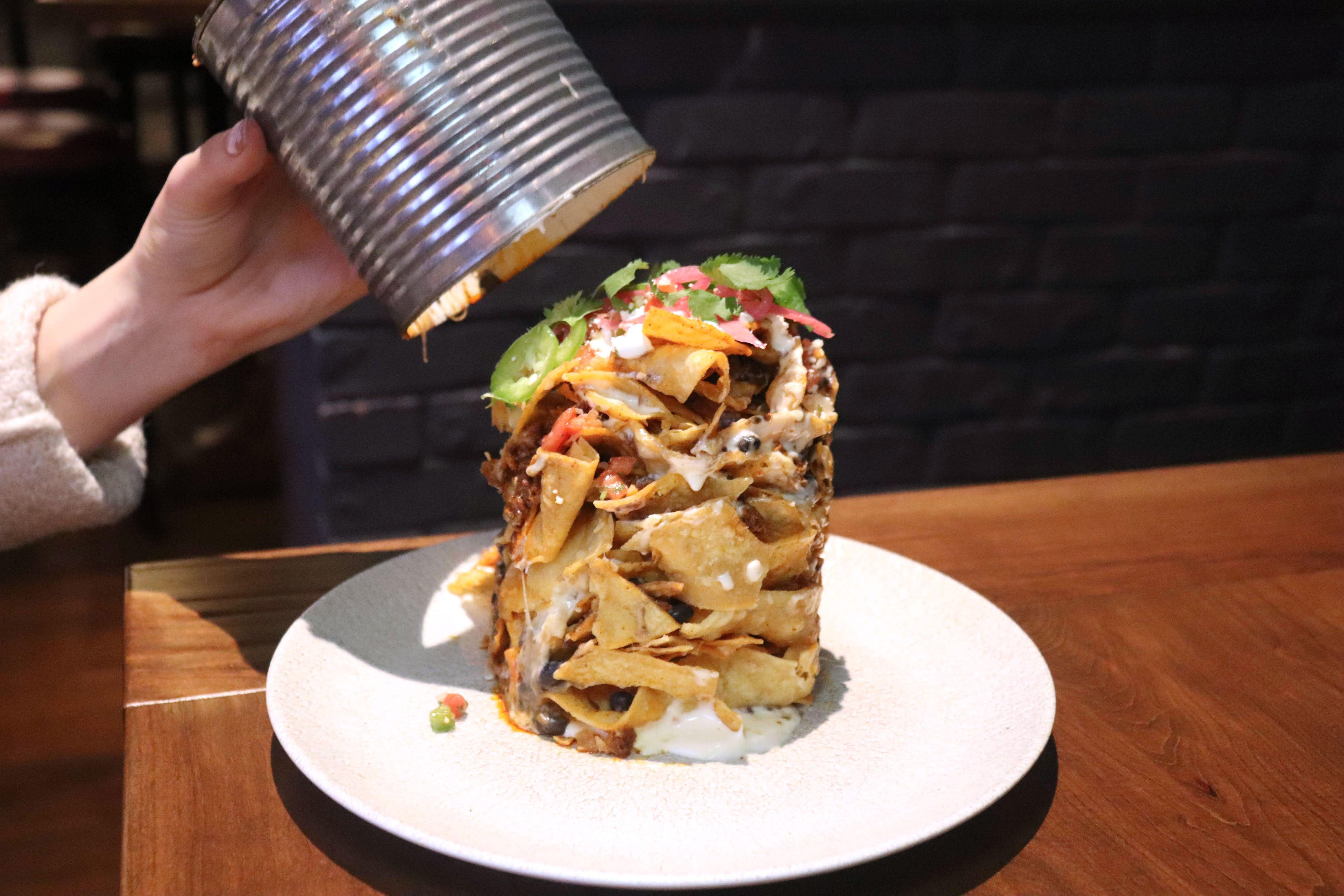 Trash can nachos at Guy Fieri's Tequila Cocina