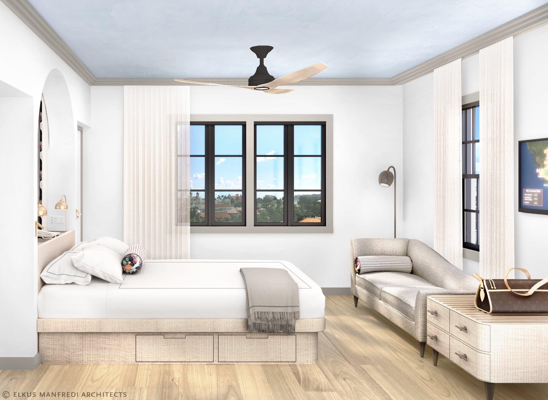 White Elephant Palm Beach bedroom