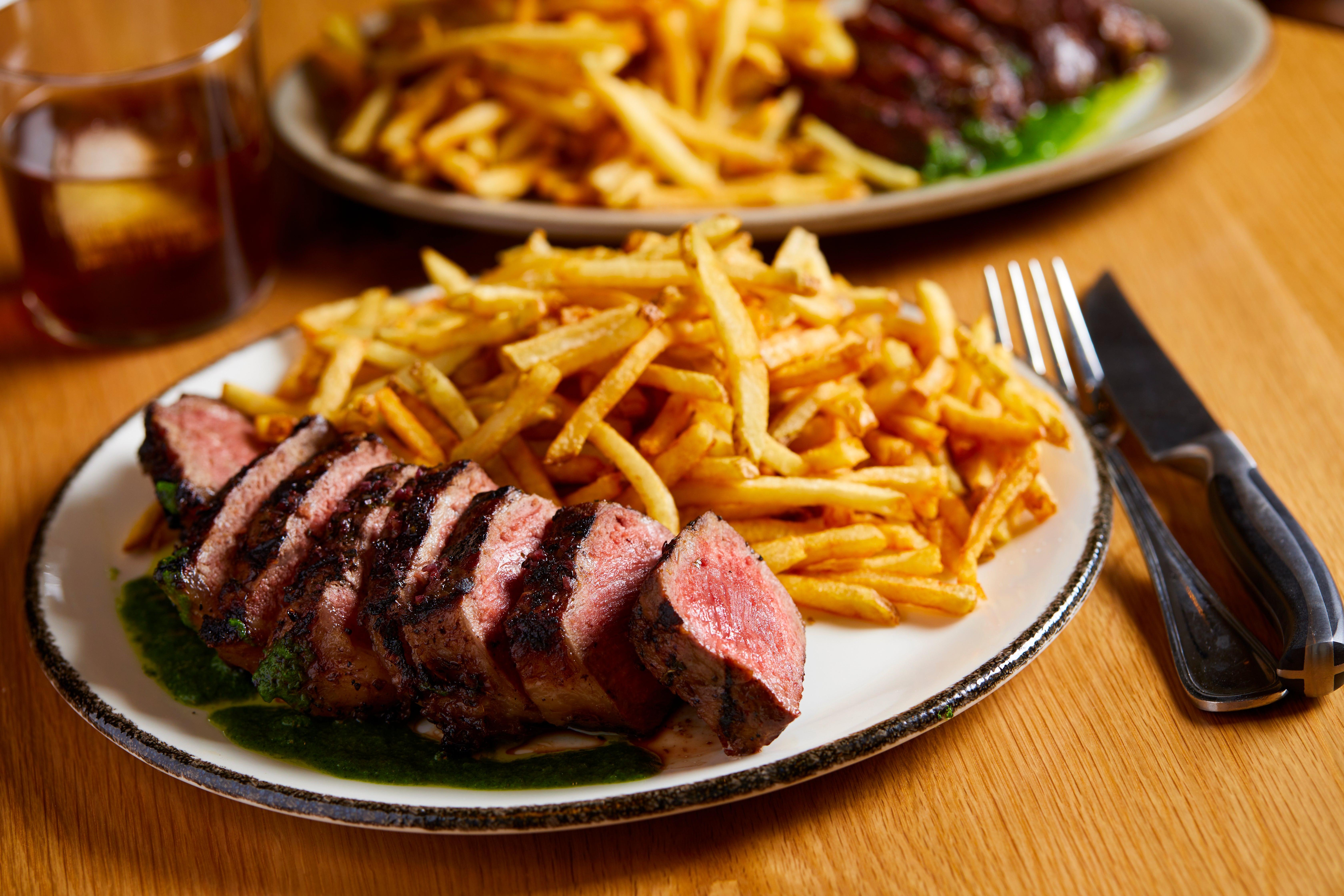 Steak frites at LUCIE drink + dine