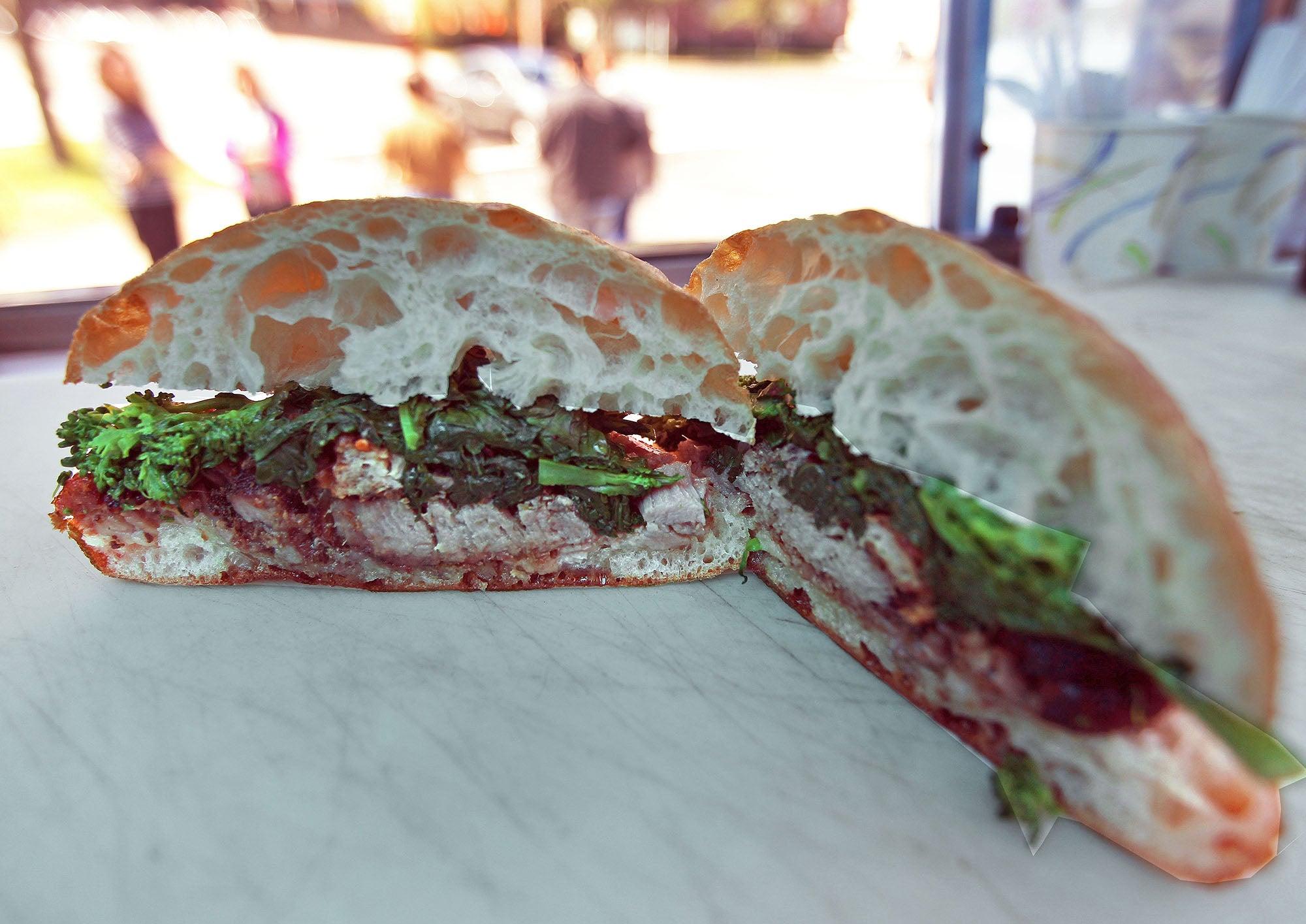 The Porchetta sandwich from Pennypacker's