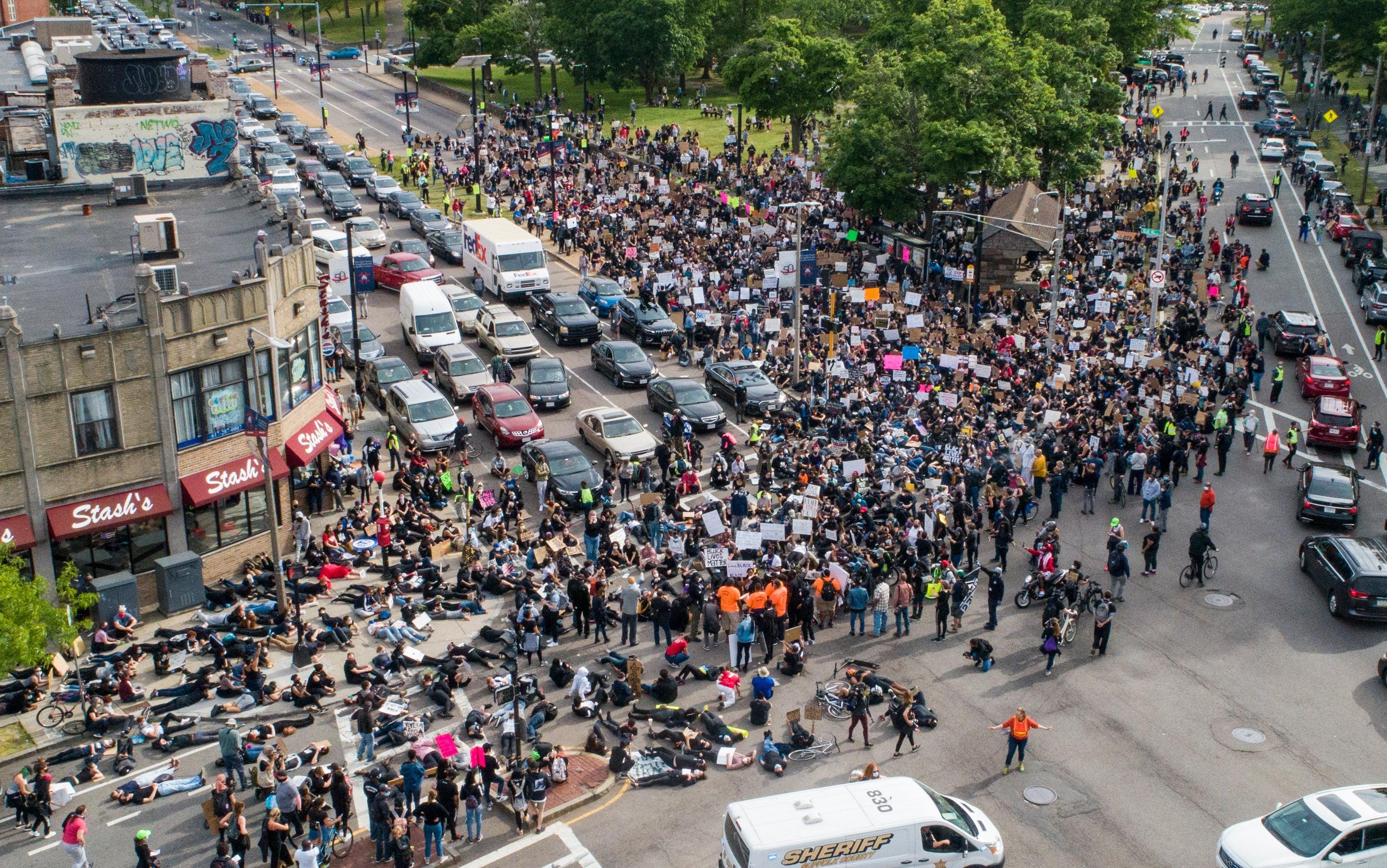 boston protest die in