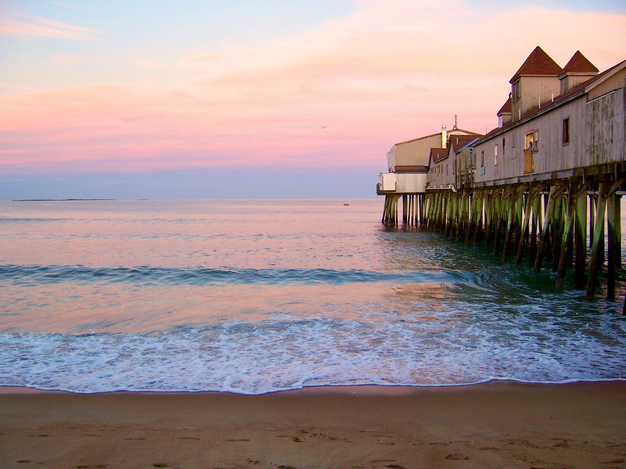 Old Orchard Beach Pier in Maine