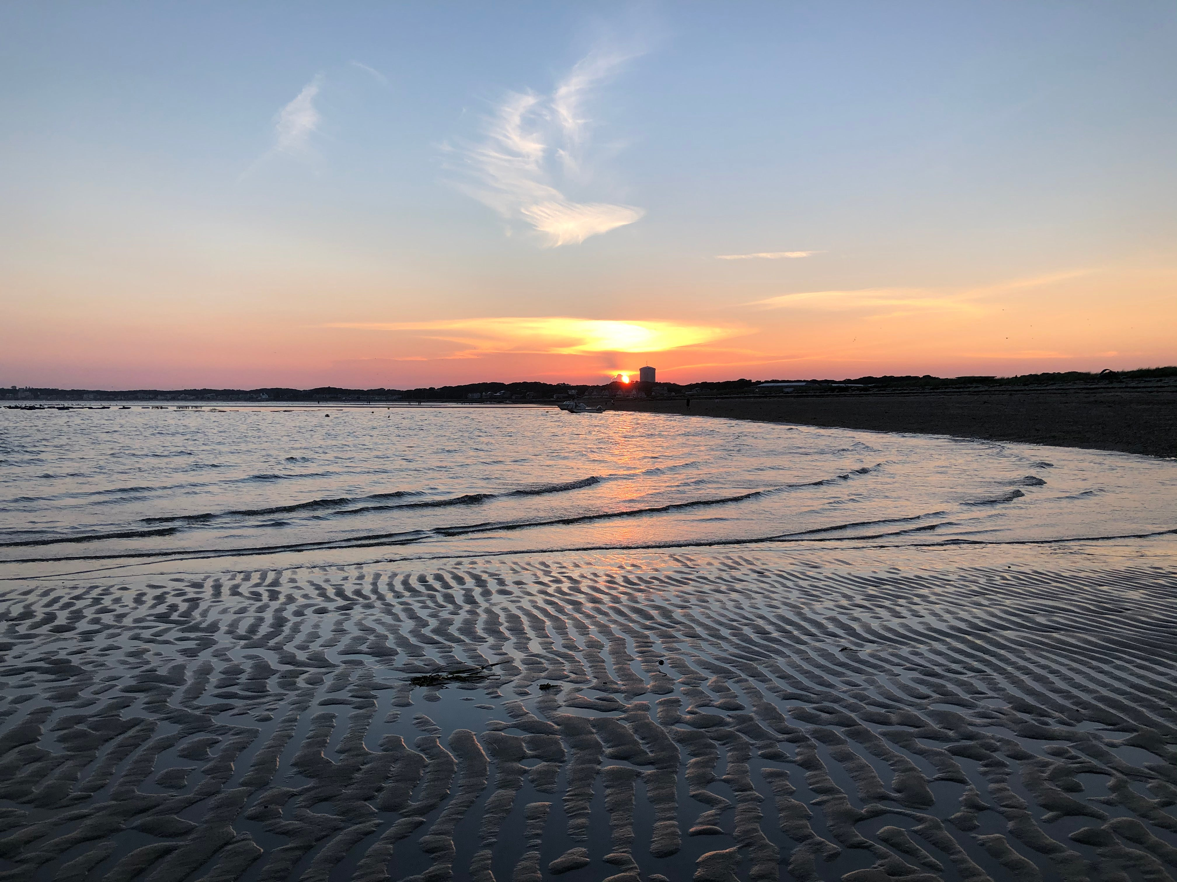 Sunset over Provincetown, taken from North Truro