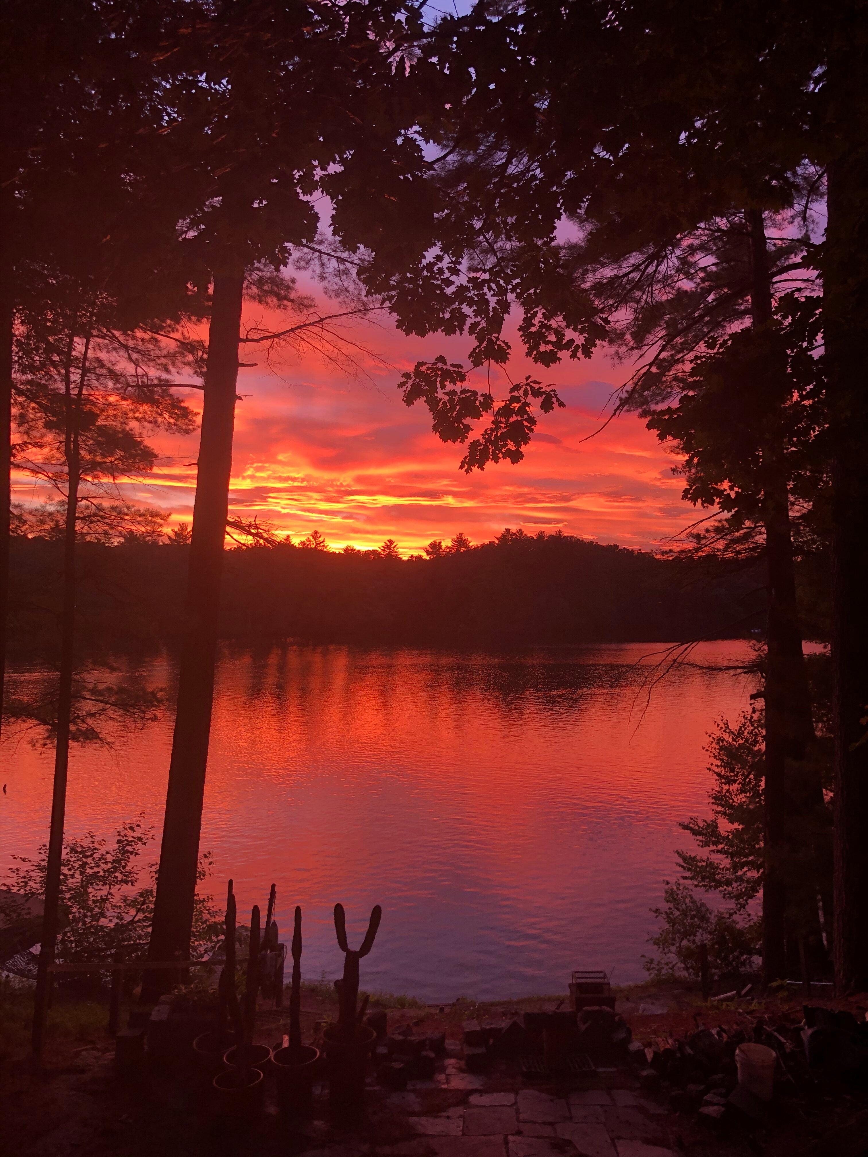 Lake Massapoagers sunset