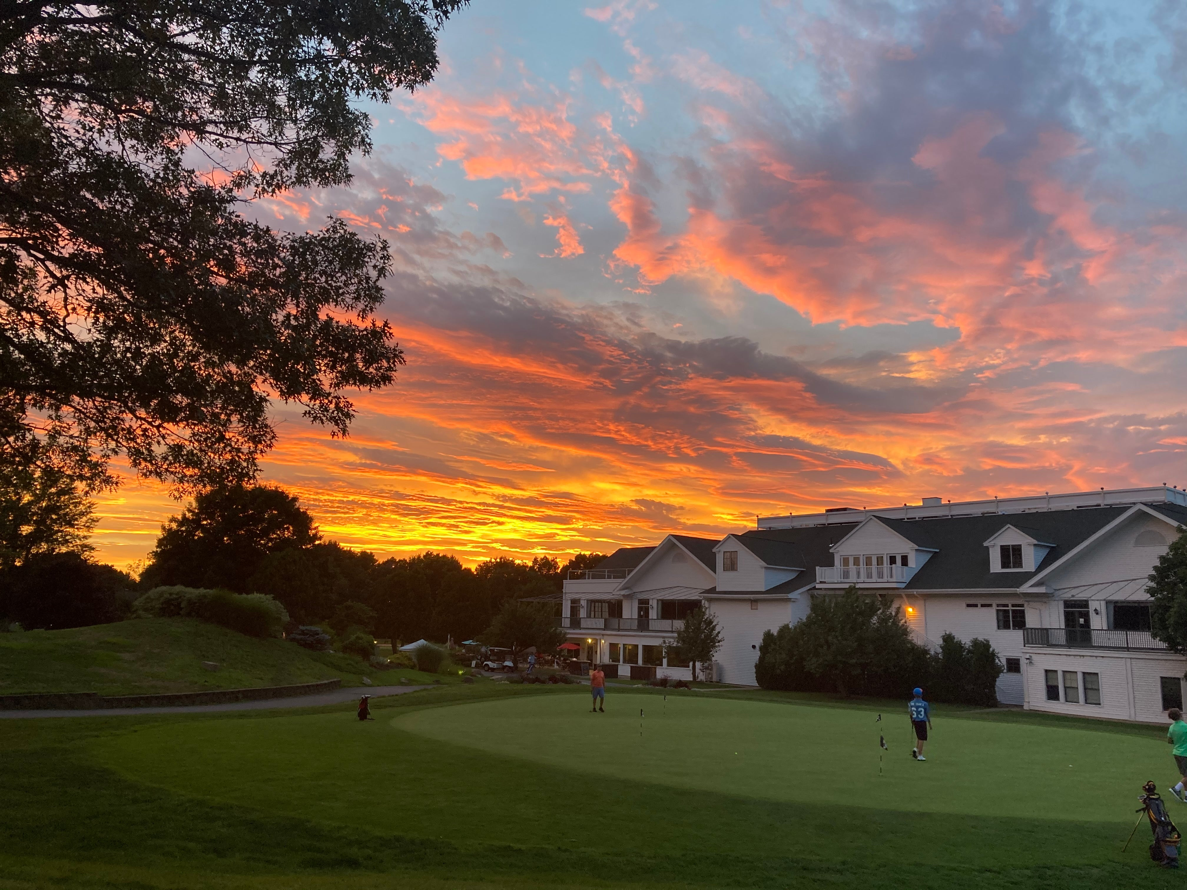 Sunset over Black Swan Country Club