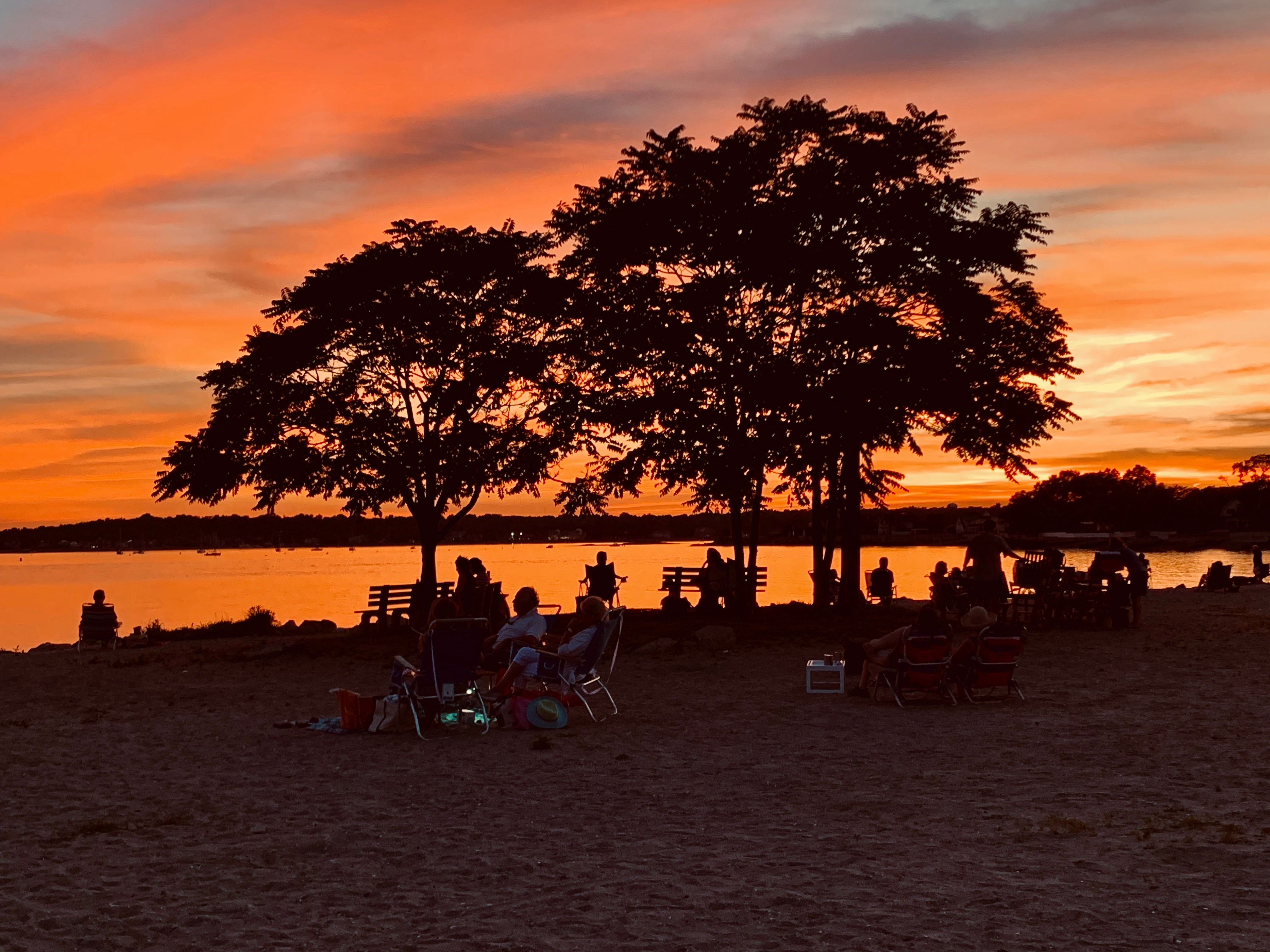 Sunset at Compo Beach in Westport, Connecticut