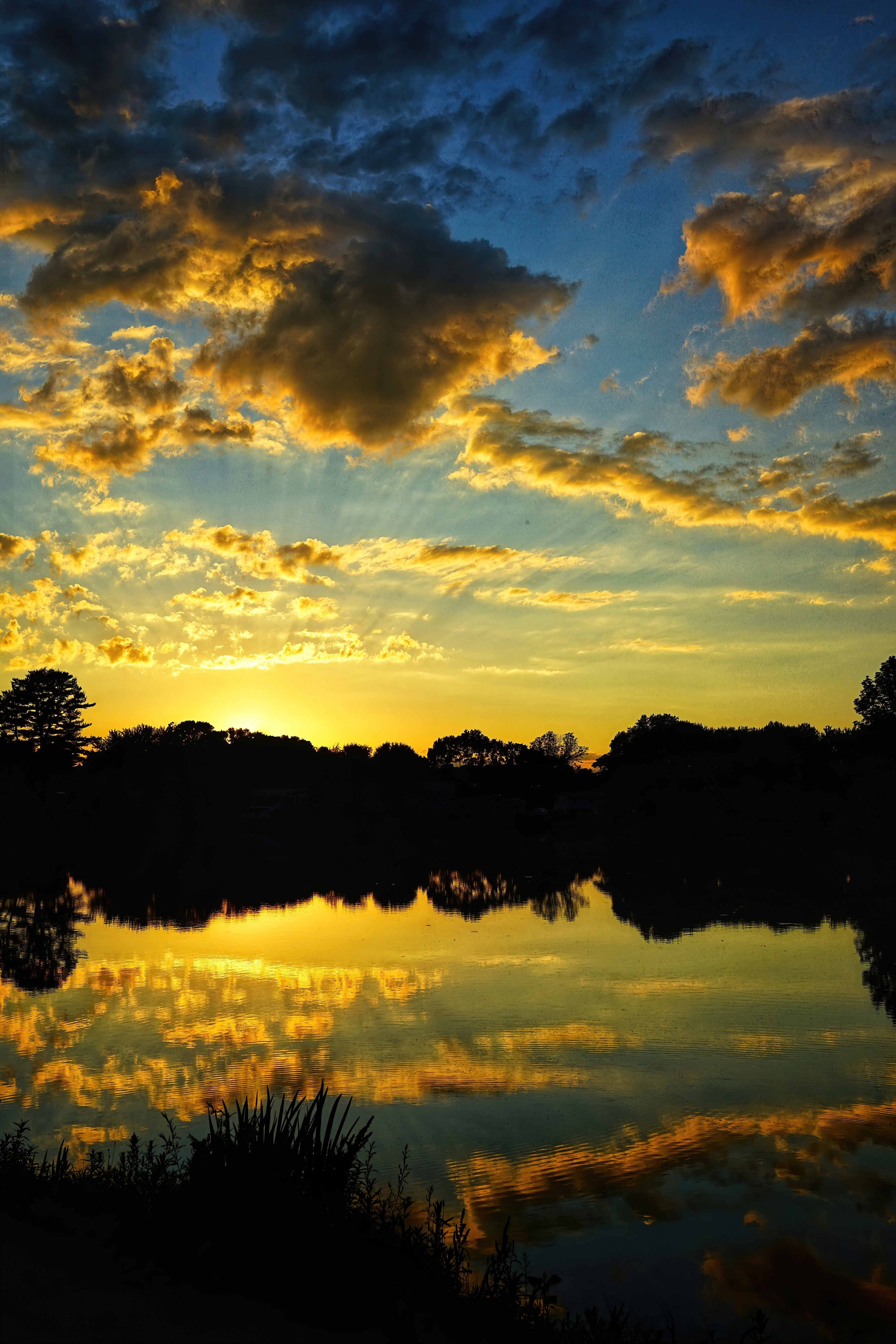 Sunset at Fulton Pond in Mansfield