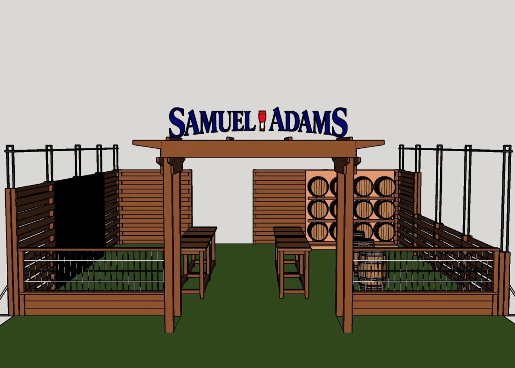 A rendering of Ned's Beer Garden by Sam Adams