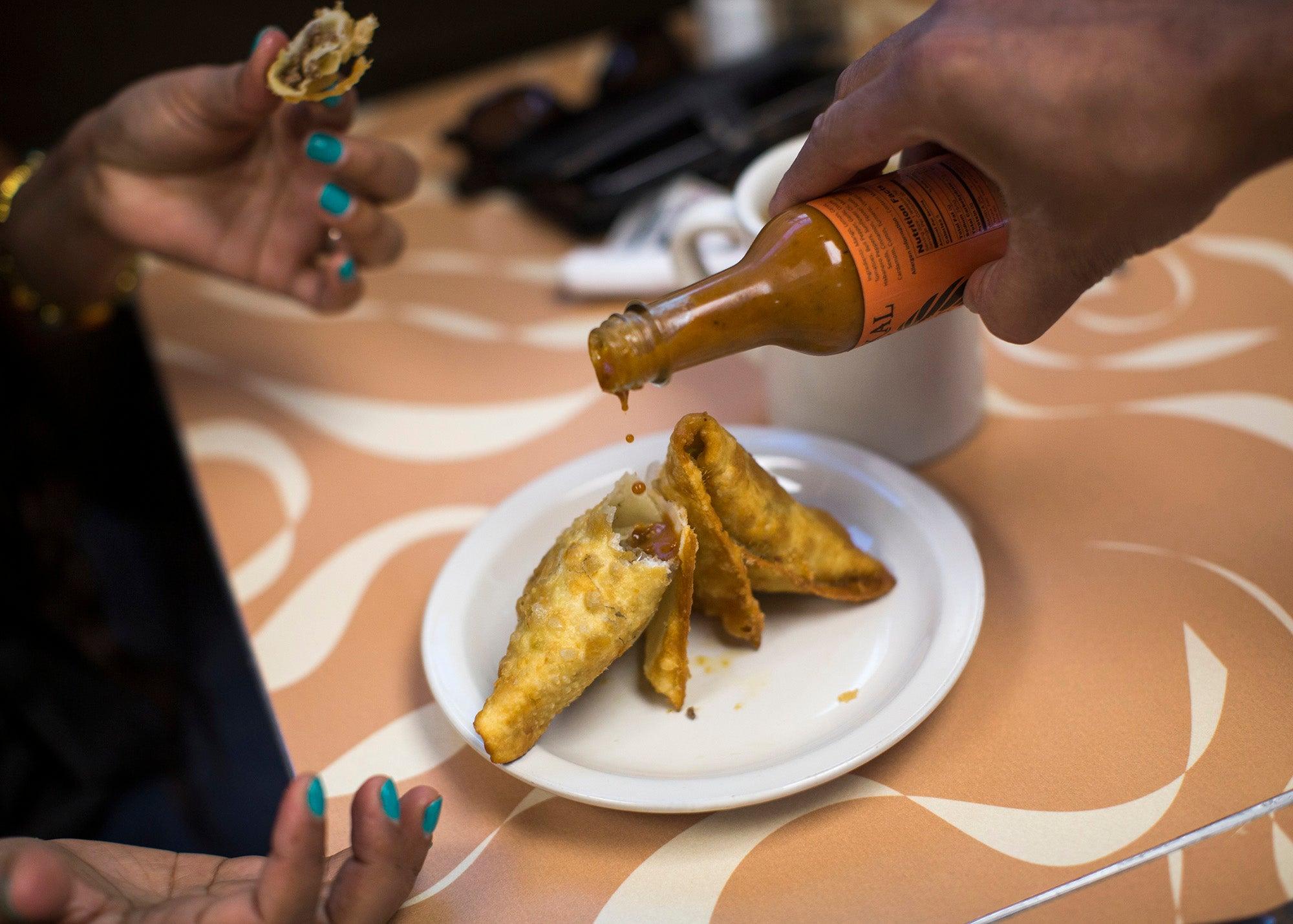 Tawakal Halal Cafe's hot sauce