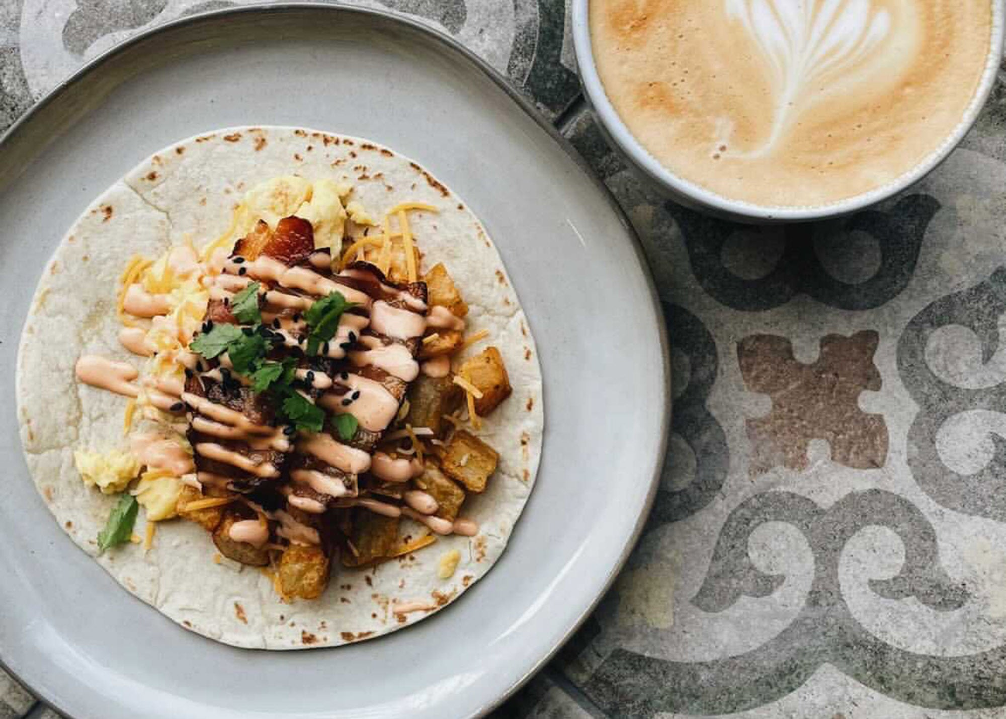 Breakfast tacos at Glasser Coffee Co.