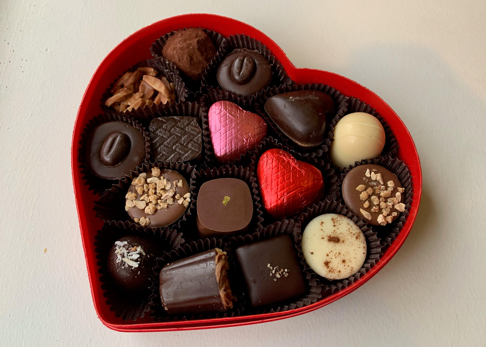 A Valentine's Day box at Cacao