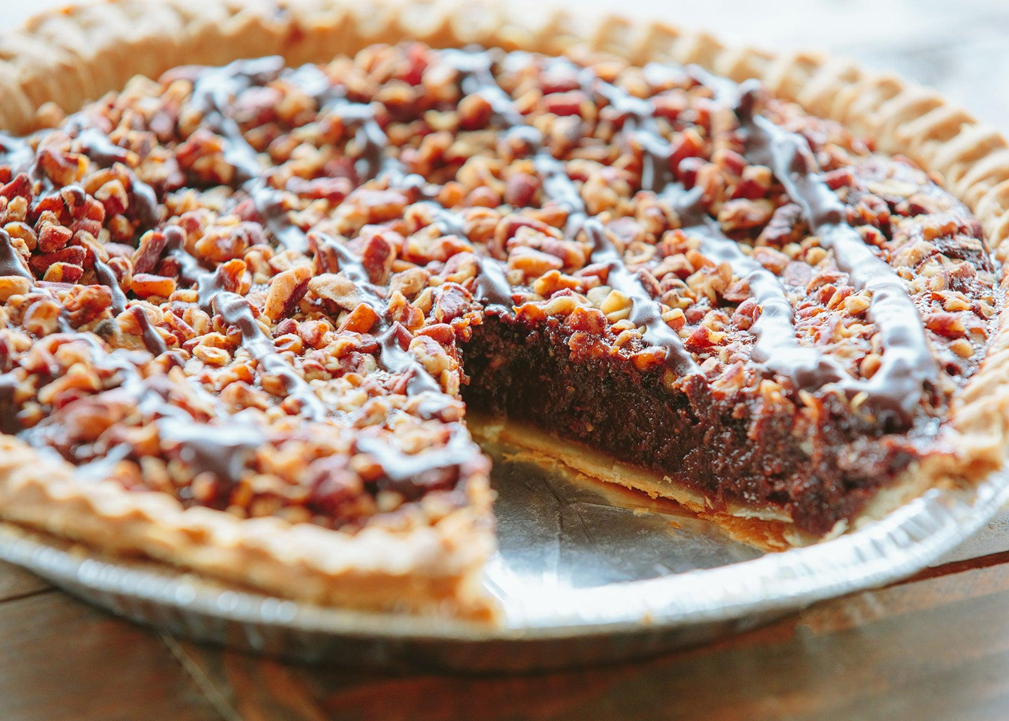 Chocolate bourbon pecan pie at Petsi Pies