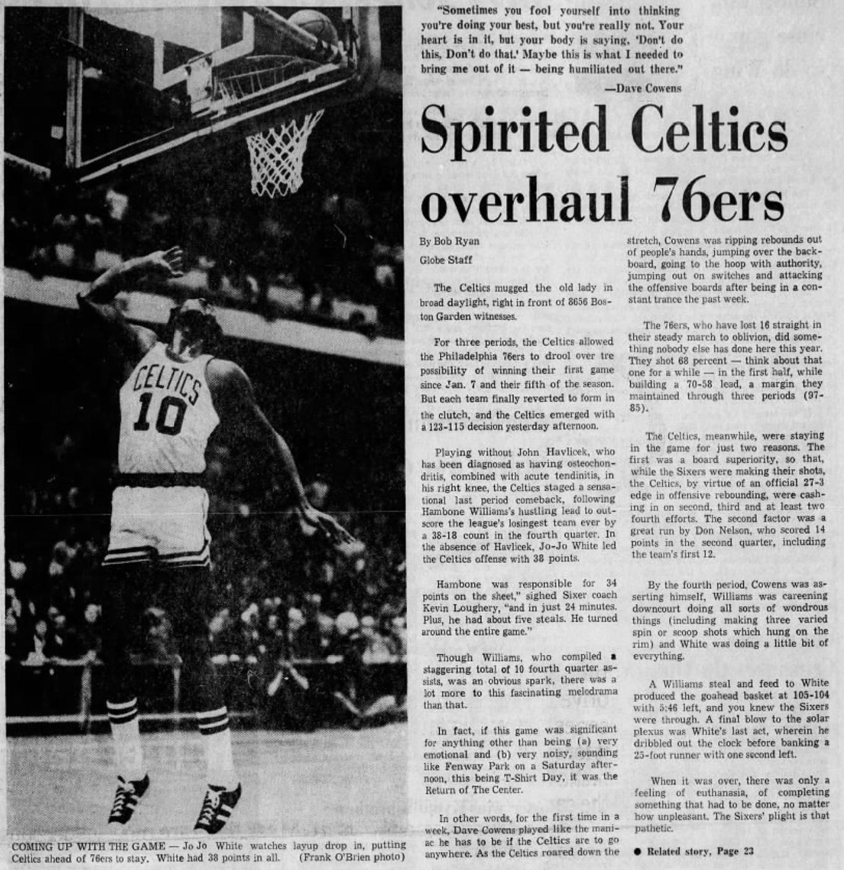 Jo Jo White Celtics 76ers