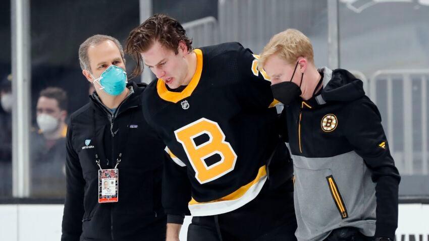 'Predatory hit': Brandon Carlo goes to hospital after hit to head from Tom Wilson - Boston.com
