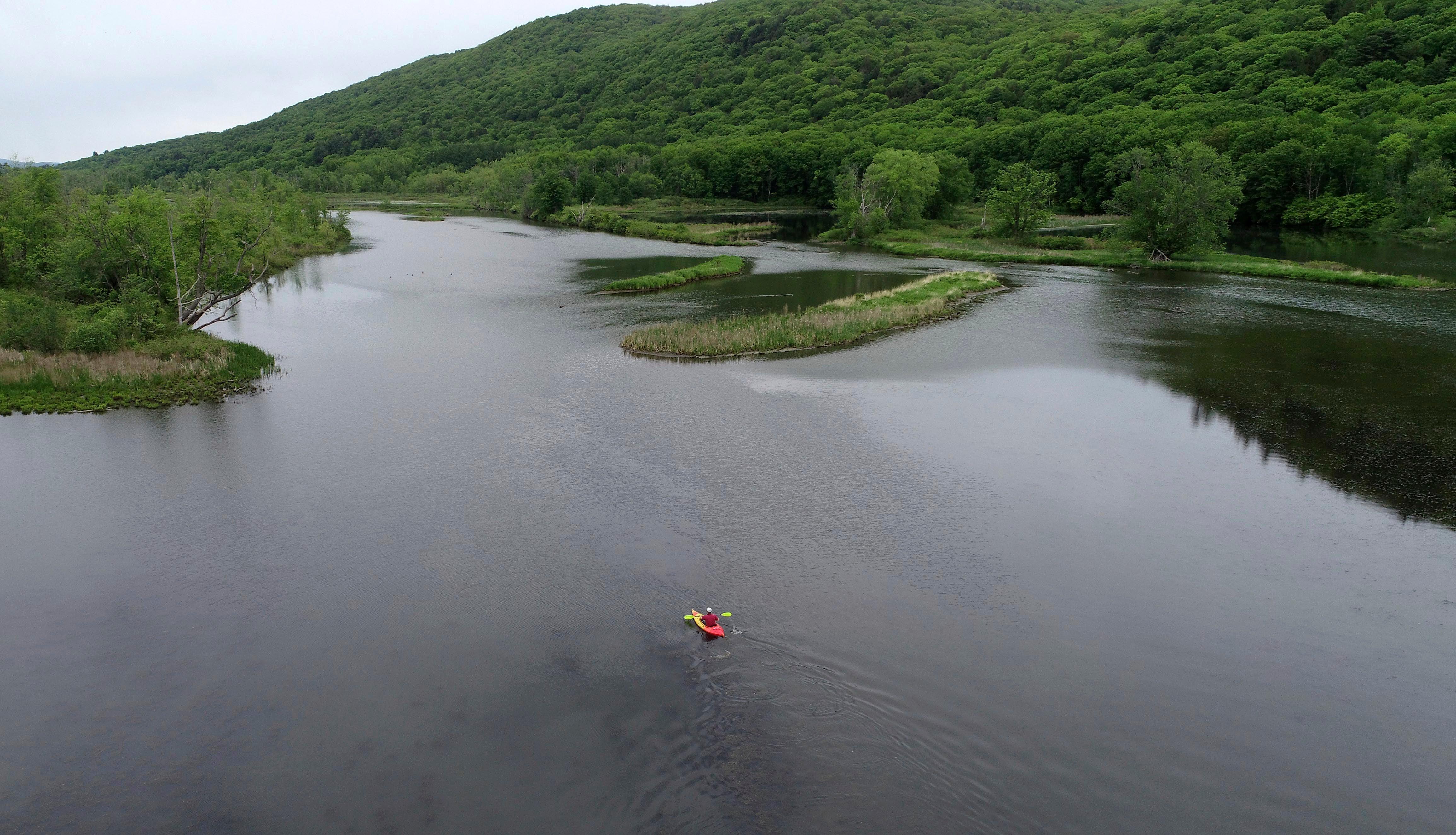 kayaker in lenox, ma