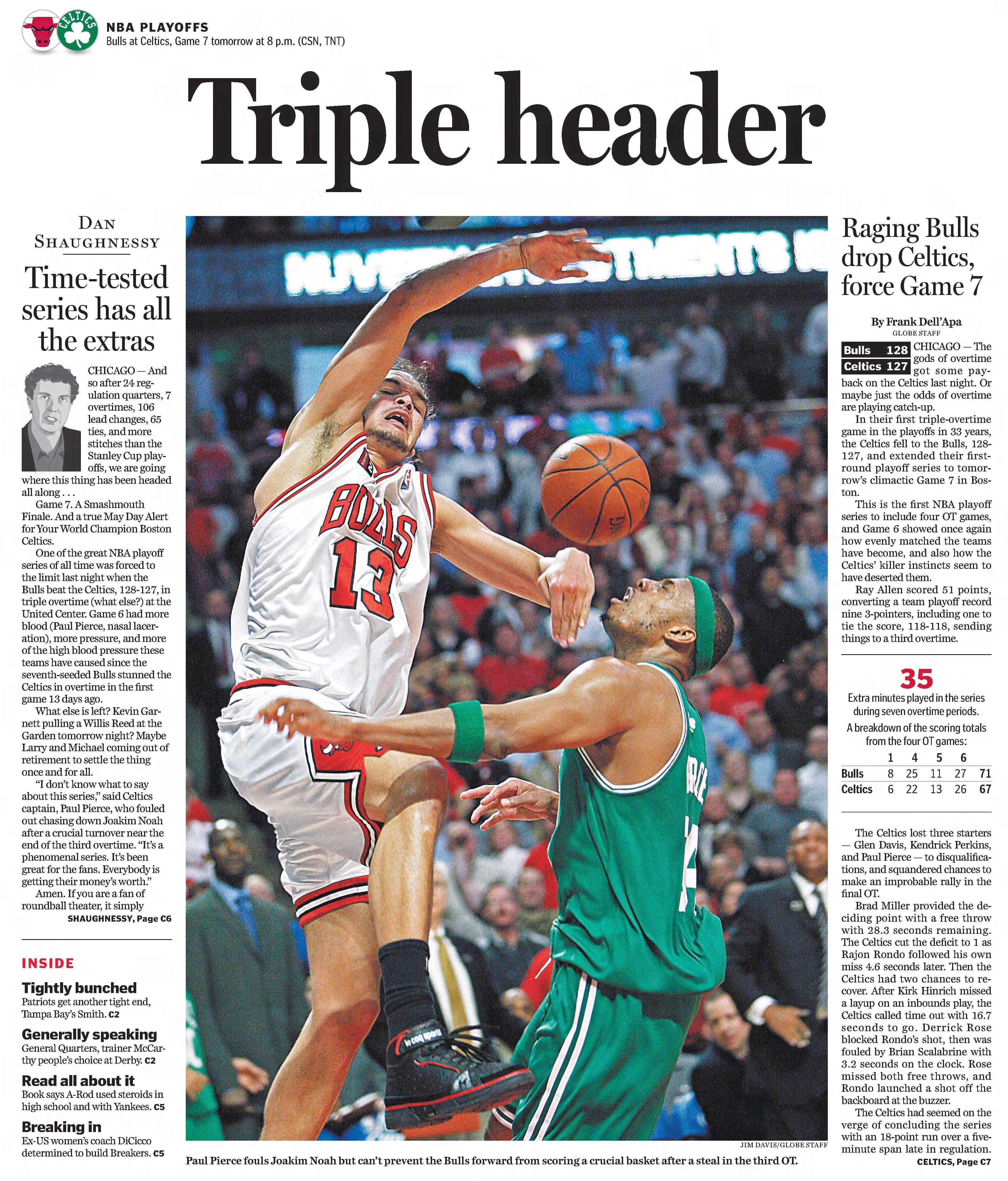 Boston Globe Celtics Ray Allen