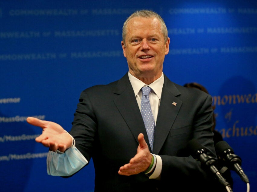 Charlie Baker wants Massachusetts to get vaccine doses from states with surplus supply thumbnail