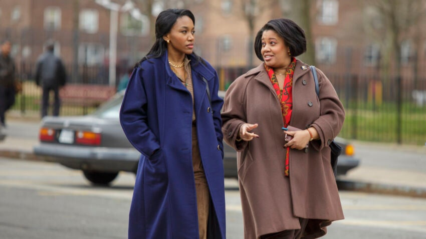 """(L-R): Lauren E. Banks as Siobhan Quay and Pernell Walker as Grace Campbell in CITY ON A HILL, """"Is The Total Black, Being Spoken"""". Photo Credit: Francisco Roman/SHOWTIME."""