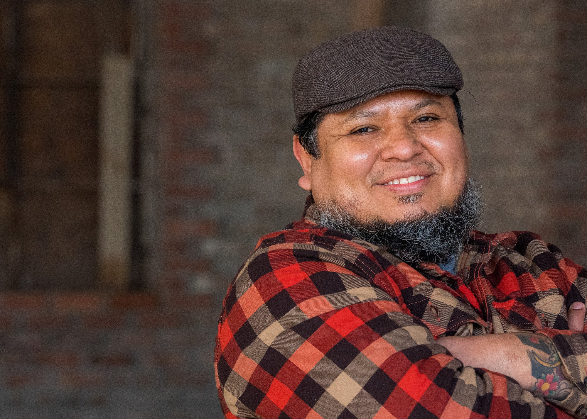 Luis Espinoza, head brewer at Roundhead Brewing Co.