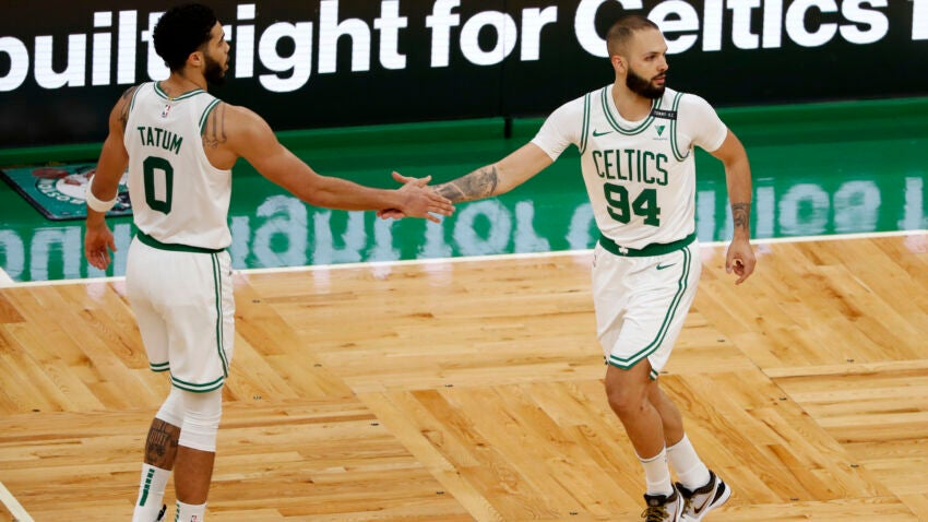 Brad Stevens 'wouldn't expect to see' Evan Fournier play for Celtics this week