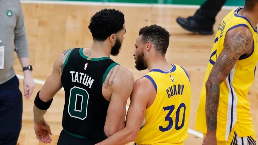 Jayson Tatum and Steph Curry share 'mutual respect' following high-scoring performances