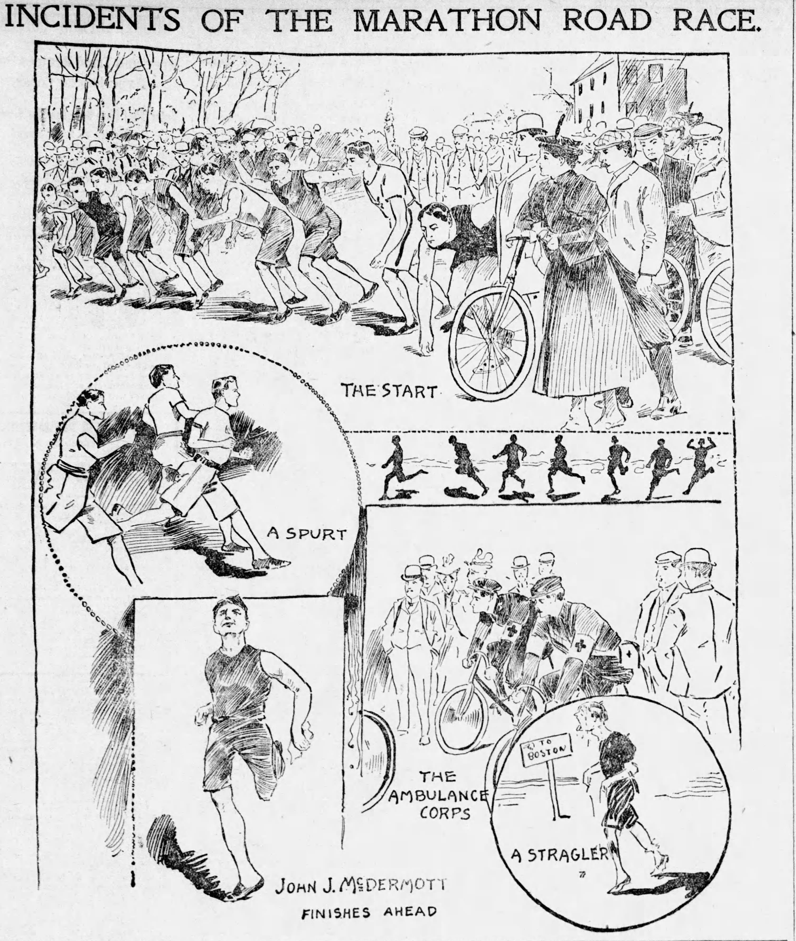 Boston Globe 1897 first Boston Marathon