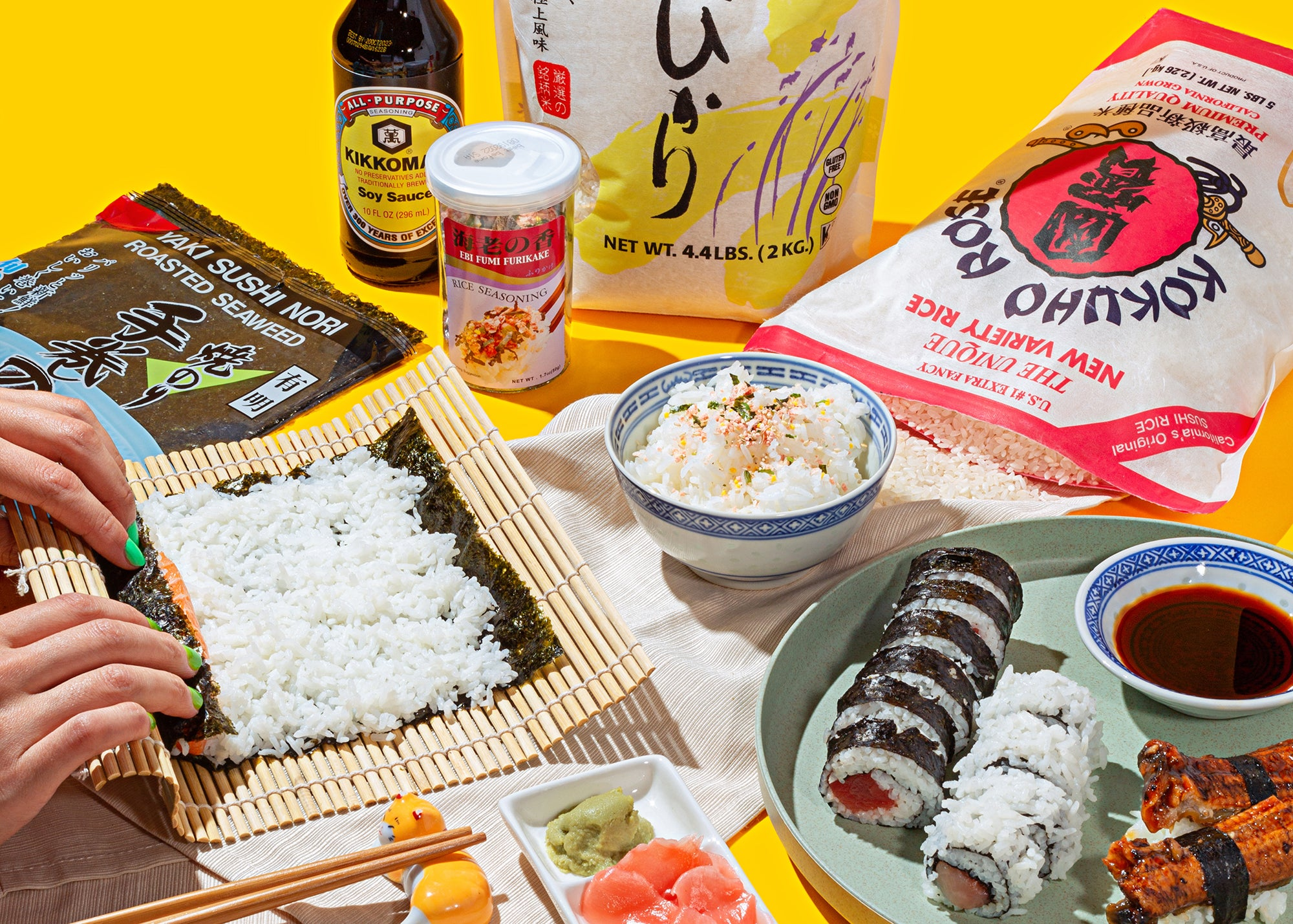 Spread of ingredients from Umamicart